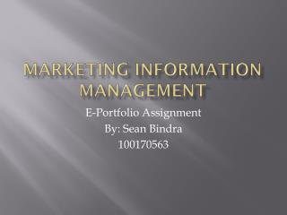 Marketing Information Management