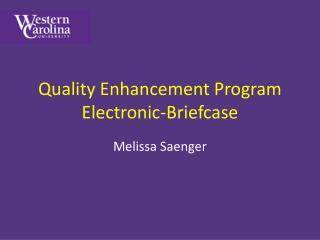 Quality Enhancement Program Electronic-Briefcase