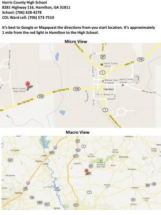 Harris County High School  8281 Highway  116, Hamilton, GA  31811 School: (706 )  628-4278