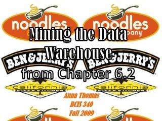 Mining the Data Warehouse  from Chapter 6.2