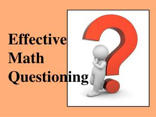 Effective Math Questioning