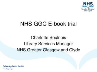 NHS GGC E-book trial