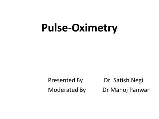 Pulse- Oximetry