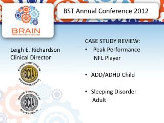 BST Annual Conference 2012