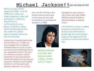 Michael Jackson!!