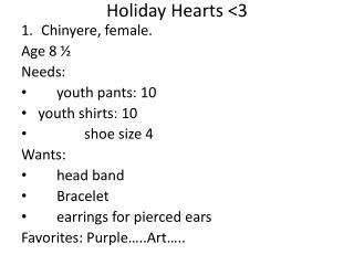 Holiday Hearts <3