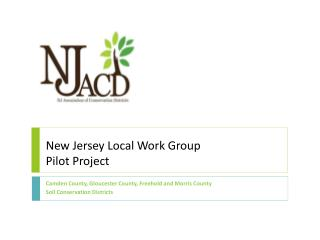 New Jersey Local Work Group Pilot  Project