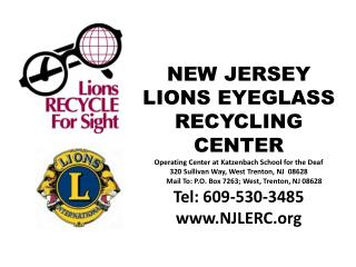 Cumulative Totals for New Jersey  Lions Eyeglass  Recycling Center  from  1997 to Present