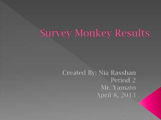 Survey Monkey Results