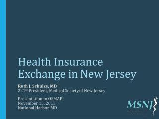 Health Insurance Exchange in New Jersey