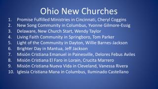 Ohio New Churches