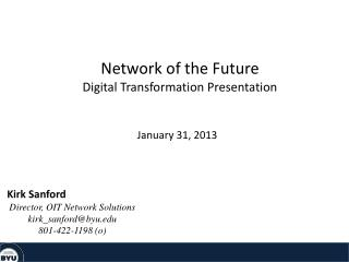 Network of the Future Digital Transformation Presentation