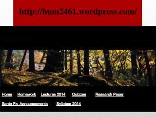 h um2461 Humanities  of Latin  America