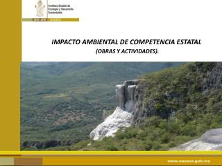 IMPACTO AMBIENTAL DE COMPETENCIA ESTATAL (OBRAS Y ACTIVIDADES).