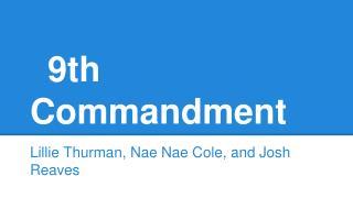 9th Commandment