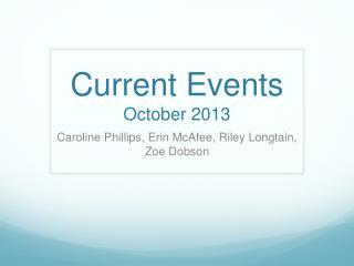Current Events  October 2013
