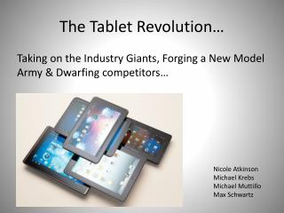 The Tablet Revolution…