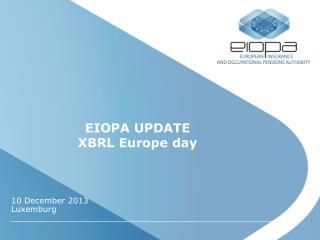 EIOPA UPDATE XBRL Europe day