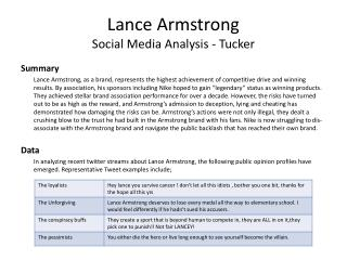 Lance Armstrong Social Media Analysis - Tucker