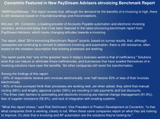Corcentric Featured in New PayStream Advisors