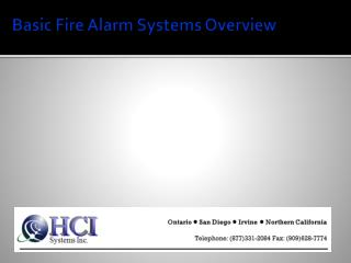 Basic Fire Alarm Systems Overview