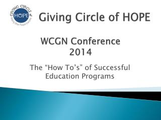 WCGN Conference  2014