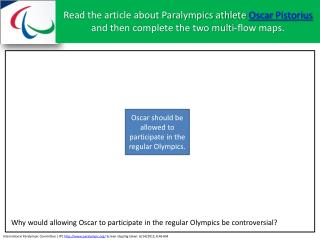 Oscar should be allowed to participate in the regular Olympics.