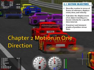 Chapter  2  Motion in One Direction