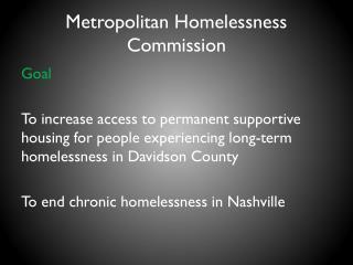 Metropolitan Homelessness Commission