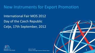 New Instruments  for  Export  Promotion