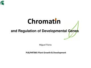 a nd Regulation of Developmental Genes