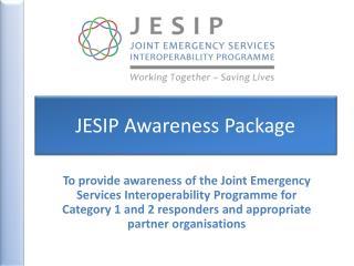 JESIP Awareness Package