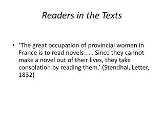 Readers in the Texts