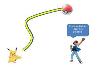 Ayuda a pikachu a llegar a su pokebola