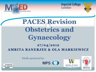 PACES Revision Obstetrics and Gynaecology