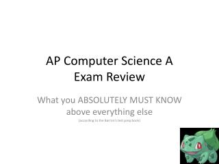 AP Computer Science A Exam Review