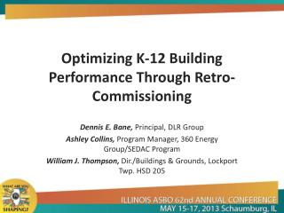 Optimizing K-12 Building Performance Through Retro-Commissioning