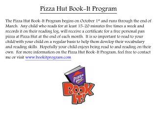 Pizza Hut Book-It Program