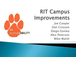 RIT Campus Improvements