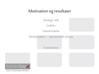 Motivation og resultater