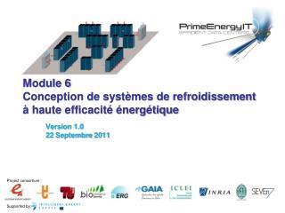 Module 6 Conception  de  systèmes de refroidissement  à haute efficacité énergétique