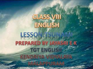 LESSON:TSUNAMI