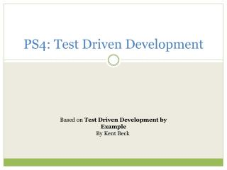 PS4: Test Driven Development
