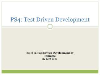 PS4: Test Driven Development