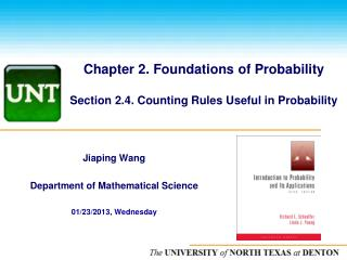 Chapter 2. Foundations of Probability  Section 2.4. Counting Rules Useful in Probability