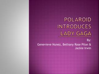 Polaroid introduces  Lady Gaga