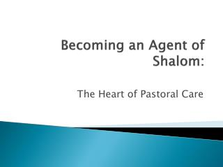 Becoming an Agent of Shalom: