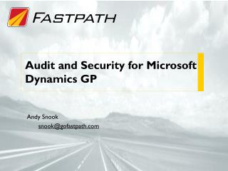 Audit and Security  for Microsoft Dynamics GP