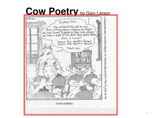 Cow Poetry by Gary Larson