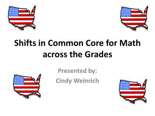 Shifts in Common Core for Math across the Grades